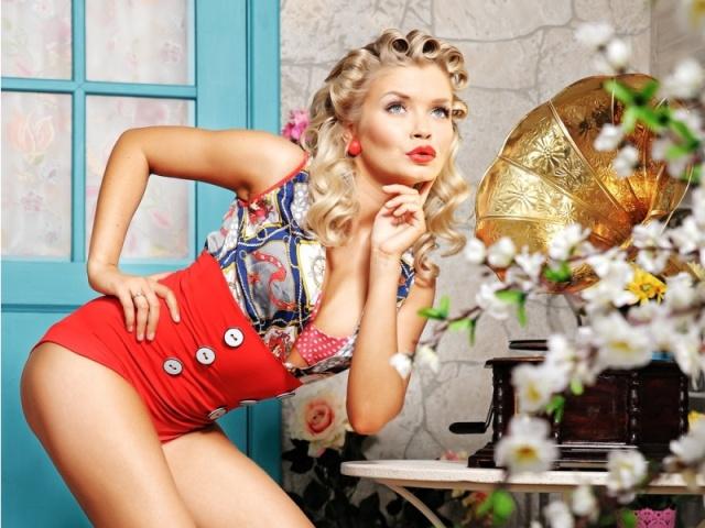 Создать образ девушки прическа в стиле пин-ап способы и советы фото